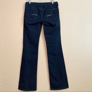 7 For All Mankind Blue Embellished Boot Cut Jeans